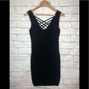Bebe Bodycon Black Dress Size L